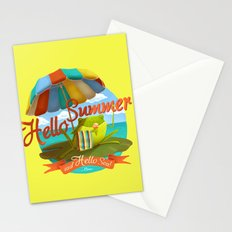 Hello summer and hello sea! Stationery Cards