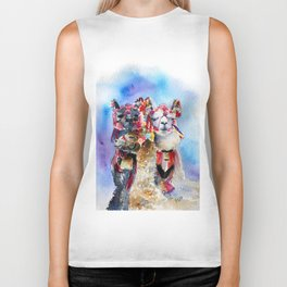 Cute Alpacas friends in Watercolor Biker Tank