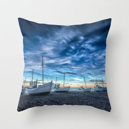 Sleeping Boats Throw Pillow