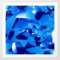 blue mania Art Print