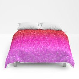 Red/Pink Glitter Gradient Comforters