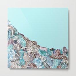 Turquoise Sea Stones Metal Print