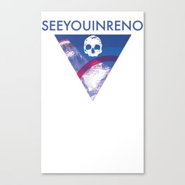 See You In Reno - Skull Mountain Triangle Canvas Print