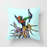 archer Throw Pillows featuring Atlantean Archer by Robert Cooper