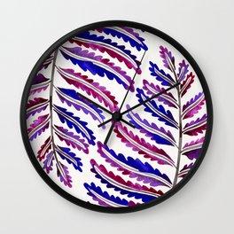 Fern Leaf – Indigo Palette Wall Clock