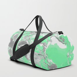 Light green and gray Marble texture acrylic paint art Duffle Bag
