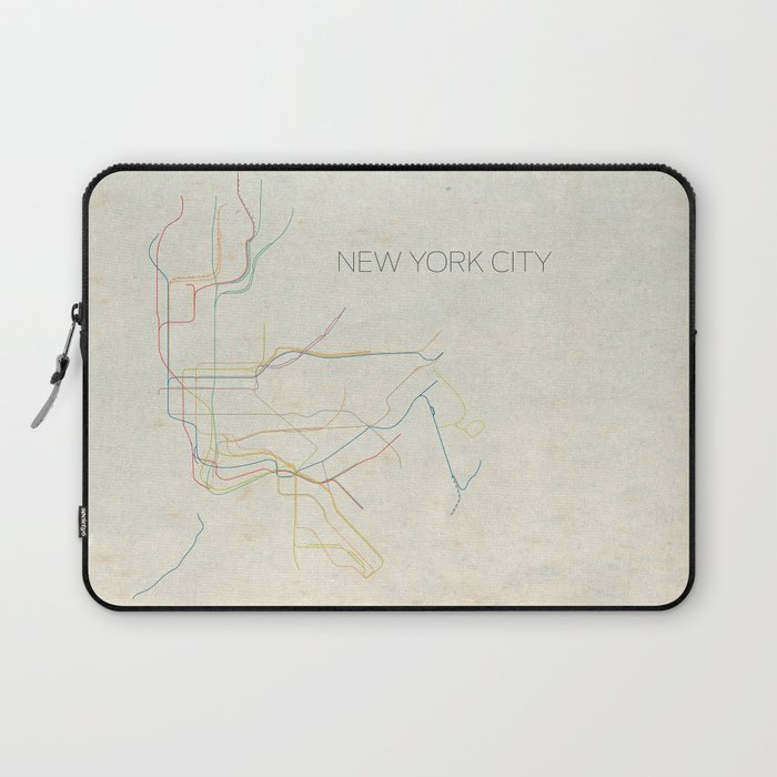 Creative Subway Map.Minimal New York City Subway Map Laptop Sleeve