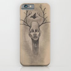 Graphite Antler Drawing Slim Case iPhone 6s