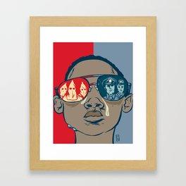 Dreaming While Black Framed Art Print