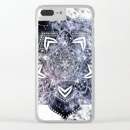 CANCER CONSTELLATION MANDALA Clear iPhone Case