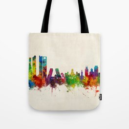 Madrid Skyline Cityscape Watercolor Tote Bag