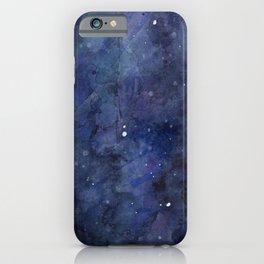 Night Sky Stars Galaxy | Watercolor Nebula iPhone Case