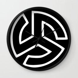 Triskelion Martial Heathen symbols Wall Clock