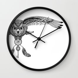 The owl is dreaming Wall Clock
