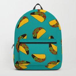 Flock of Gerrys Teal Taco Print Backpack