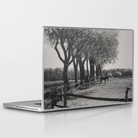horses Laptop & iPad Skins featuring Horses by Julia Dávila-Lampe