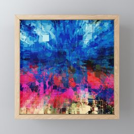 Bright Blues and Pinks Pattern Abstract Framed Mini Art Print