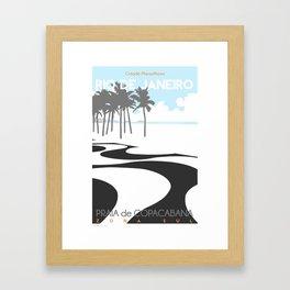Copacabana. (Praia Leme.) Framed Art Print