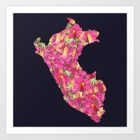 peru Art Prints featuring Peru by Ursula Rodgers