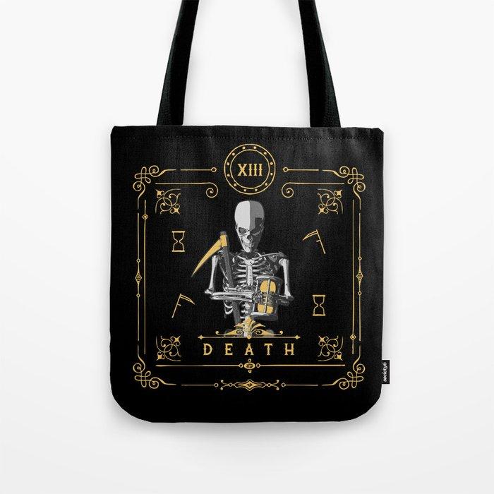 Death XIII Tarot Card Tote Bag