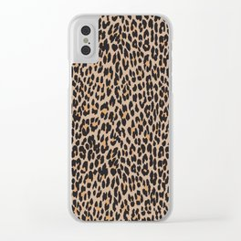 Animal Print, Spotted Leopard - Brown Black Clear iPhone Case