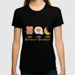 Balanced Breakfast Toast Egg Banana Healthy Food T-shirt