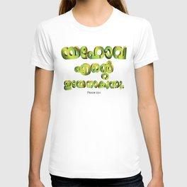 Psalm 23:1 (3D-Green&Orange) T-shirt