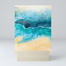 Where the Sand Meets the Ocean on Either Side Mini Art Print