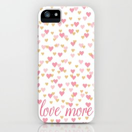 love more heart confetti iPhone Case
