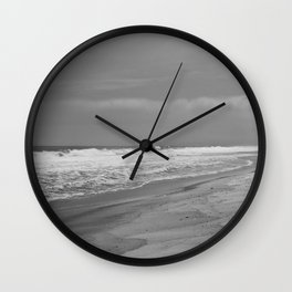 Black and White Beach Wall Clock