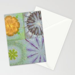 Triakisoctahedrid Unclad Flowers  ID:16165-023954-27470 Stationery Cards