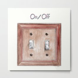 Switch Plate Metal Print