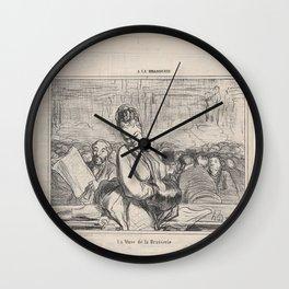 La Muse de la Brasserie, from 'A la Brasserie,' published in Le Charivari, January 21, 1864,January Wall Clock