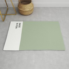 Sage Pantone Chip •Green • Earth Tones • Natural • Nature • Modernist Design • Minimalism • Simple Rug