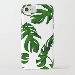 Simply Tropical Palm Leaves in Jungle Green iPhone Case