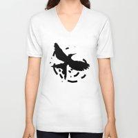 mockingjay V-neck T-shirts featuring MockingJay Revolution  by Lauren Lee Design's