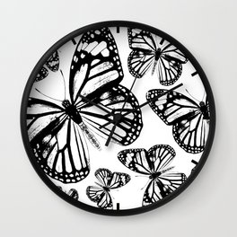 Monarch Butterflies | Monarch Butterfly | Vintage Butterflies | Butterfly Patterns | Black and White Wall Clock