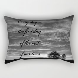 Forever Quote B&W Rectangular Pillow