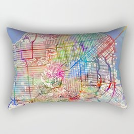 San Francisco City Street Map Rectangular Pillow