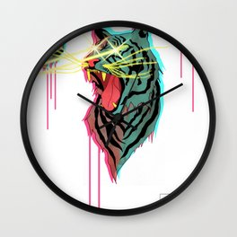 Tiger With F**king Lazers Wall Clock
