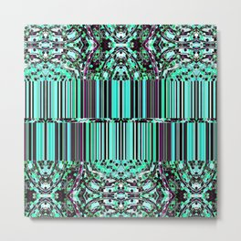 Turquoise Summer Daze In Barcelona - Walk the Line Collection Metal Print