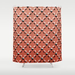Mod Coral Shower Curtain