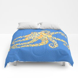 Blue Ring Octopus Comforters