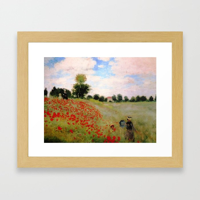POPPIES - CLAUDE MONET Framed Art Print