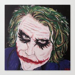 "Heath Ledger as ""The Joker"" Canvas Print"