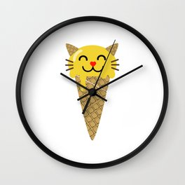 Ice Creameow Wall Clock