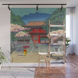 Asano Takeji Spring At Kurama Temple Vintage Japanese Woodblock Print Asian Art Wall Mural