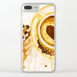 Caffee and cake Clear iPhone Case