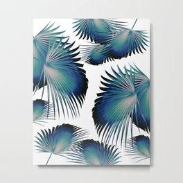 Fan Palm Leaves Paradise #1 #tropical #decor #art #society6 Metal Print