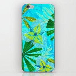 My blue abstract Aloha Tropical Jungle Garden iPhone Skin